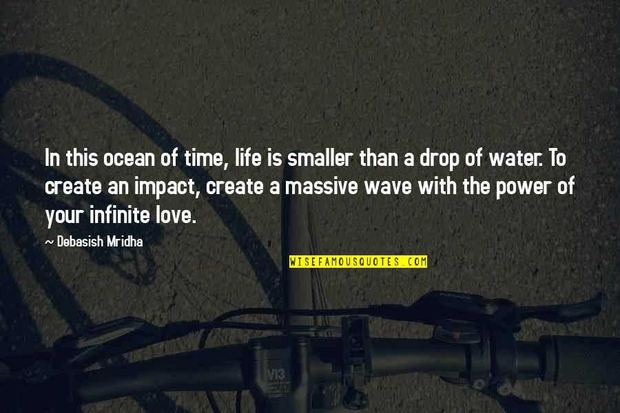 Life Drop Quotes By Debasish Mridha: In this ocean of time, life is smaller