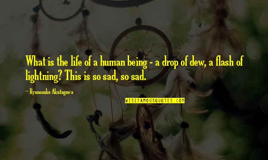 Life Drop Quotes By Ryunosuke Akutagawa: What is the life of a human being