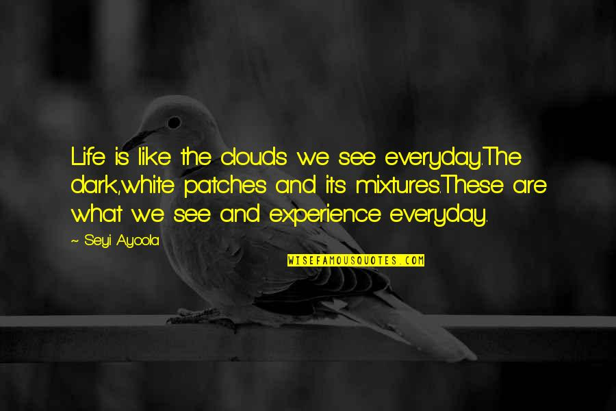 Life Everyday Quotes By Seyi Ayoola: Life is like the clouds we see everyday.The