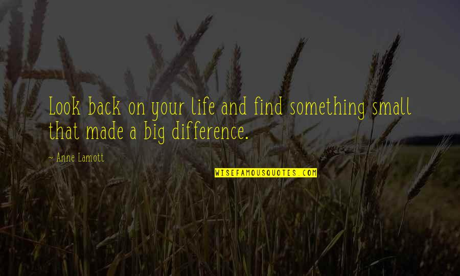 Life Experience Quotes By Anne Lamott: Look back on your life and find something