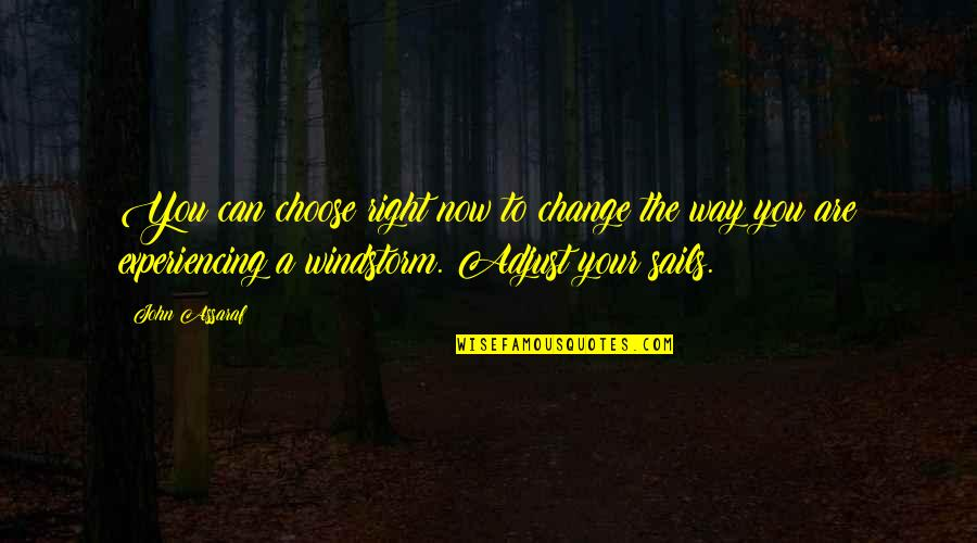 Life Experiencing Quotes By John Assaraf: You can choose right now to change the