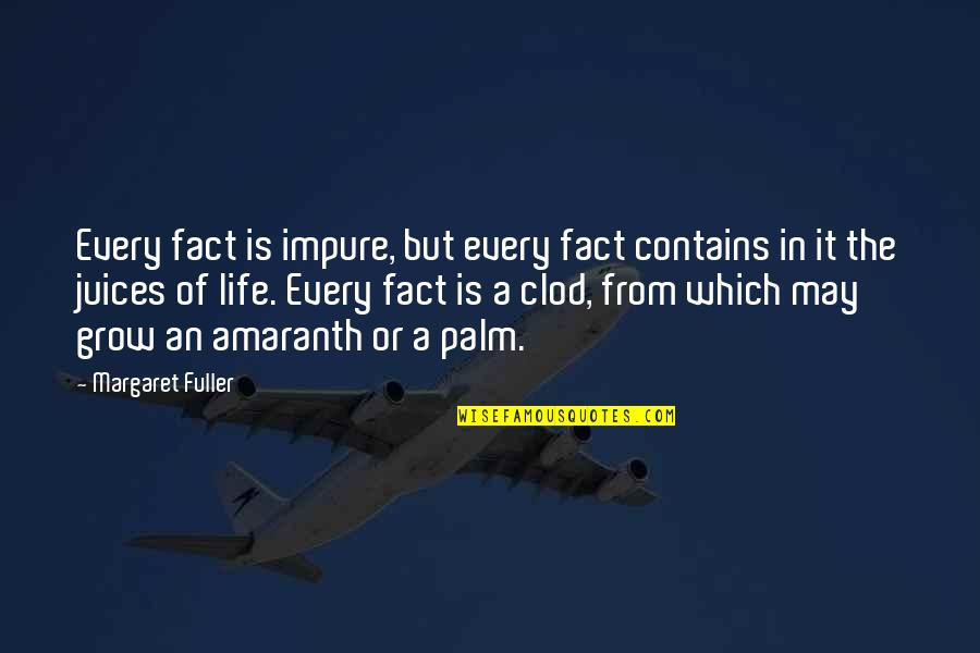 Life Facts Quotes By Margaret Fuller: Every fact is impure, but every fact contains