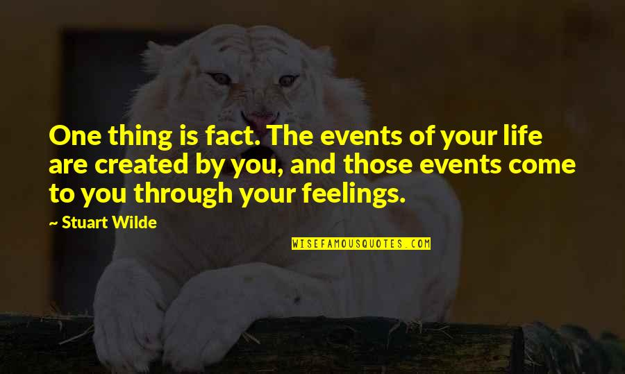 Life Facts Quotes By Stuart Wilde: One thing is fact. The events of your
