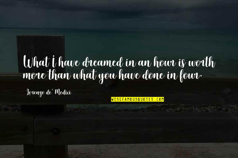 Life Going On After A Break Up Quotes By Lorenzo De' Medici: What I have dreamed in an hour is