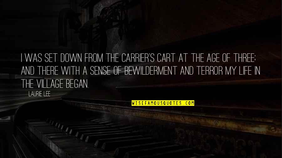 Life In A Village Quotes By Laurie Lee: I was set down from the carrier's cart
