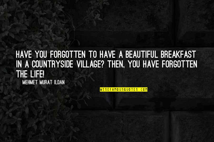 Life In A Village Quotes By Mehmet Murat Ildan: Have you forgotten to have a beautiful breakfast