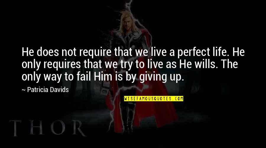 Life In Christmas Quotes By Patricia Davids: He does not require that we live a