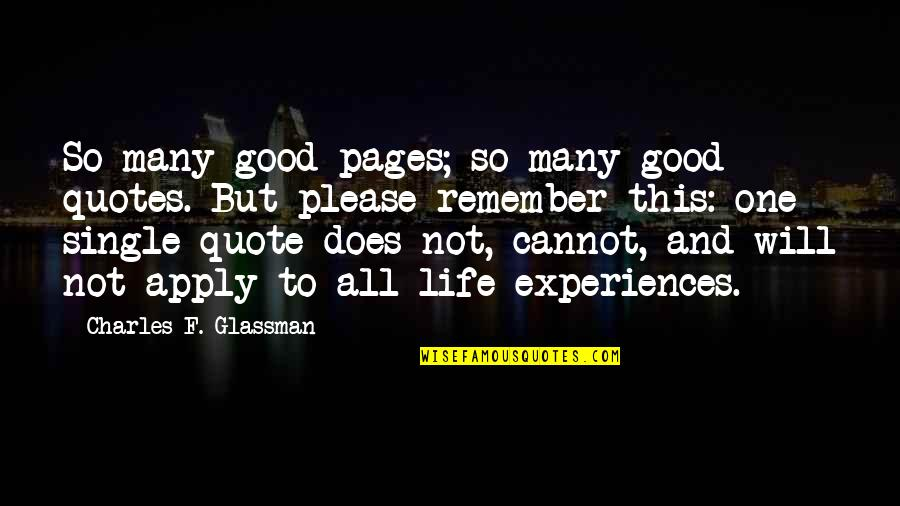Life In Facebook Quotes By Charles F. Glassman: So many good pages; so many good quotes.