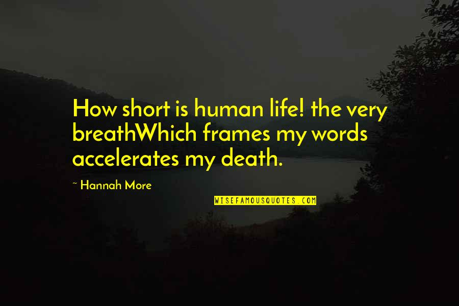 Life In Frames Quotes By Hannah More: How short is human life! the very breathWhich