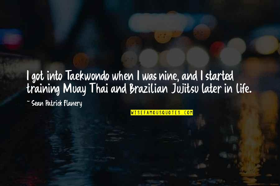 Life In Thai Quotes By Sean Patrick Flanery: I got into Taekwondo when I was nine,