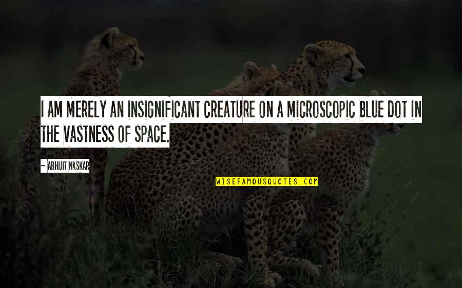Life In The Universe Quotes By Abhijit Naskar: I am merely an insignificant creature on a