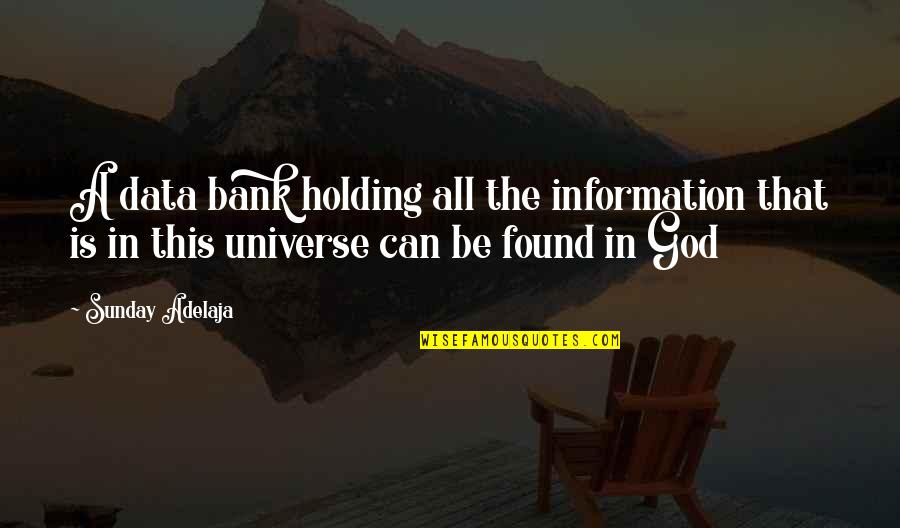 Life In The Universe Quotes By Sunday Adelaja: A data bank holding all the information that