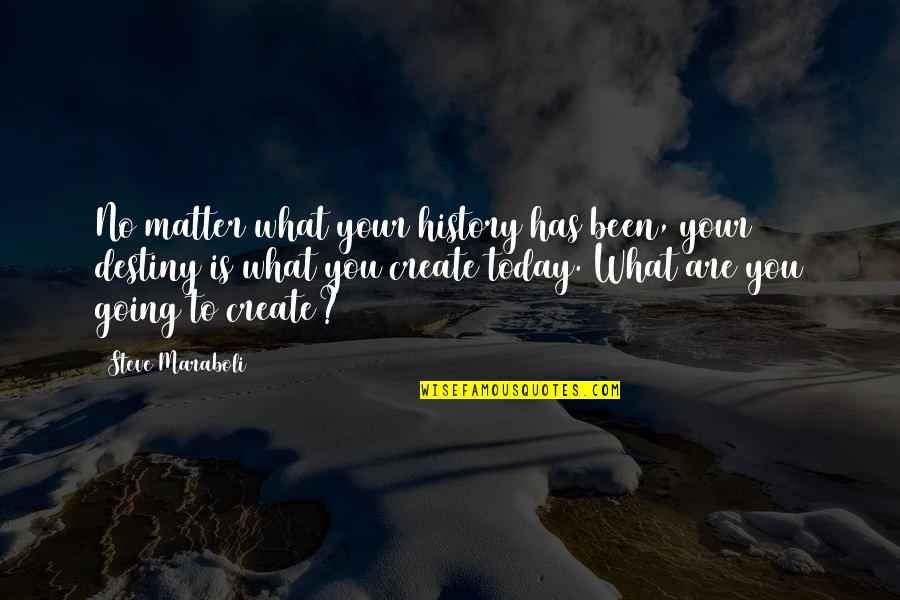 Life Inspirational Change Quotes By Steve Maraboli: No matter what your history has been, your