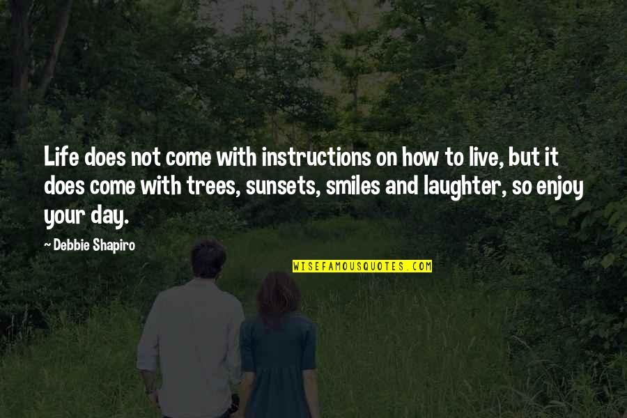 Life Instructions Quotes By Debbie Shapiro: Life does not come with instructions on how