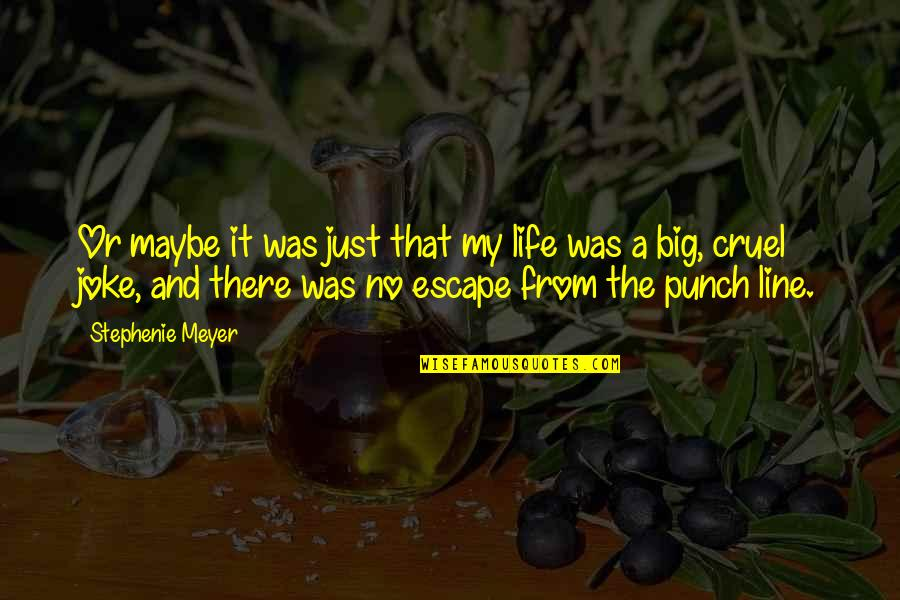 Life Is A Big Joke Quotes By Stephenie Meyer: Or maybe it was just that my life