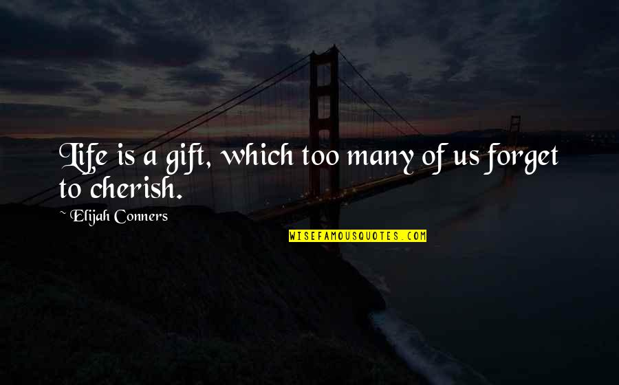 Life Is A Gift Quotes By Elijah Conners: Life is a gift, which too many of