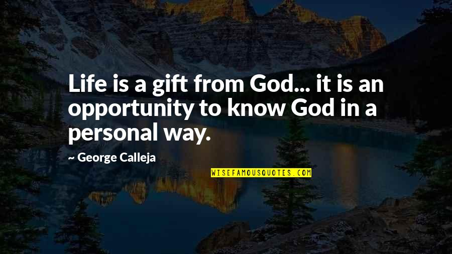 Life Is A Gift Quotes By George Calleja: Life is a gift from God... it is