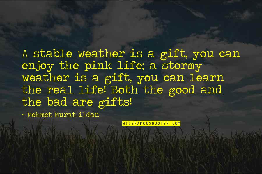 Life Is A Gift Quotes By Mehmet Murat Ildan: A stable weather is a gift, you can
