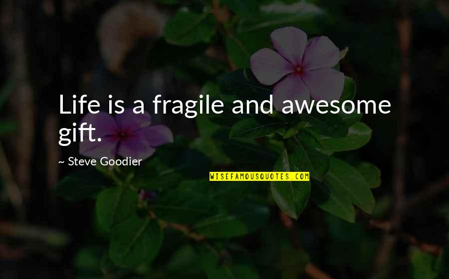 Life Is A Gift Quotes By Steve Goodier: Life is a fragile and awesome gift.