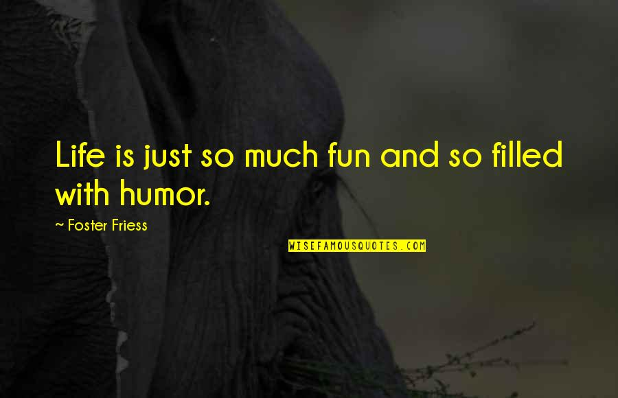 Life Is Filled With Quotes By Foster Friess: Life is just so much fun and so