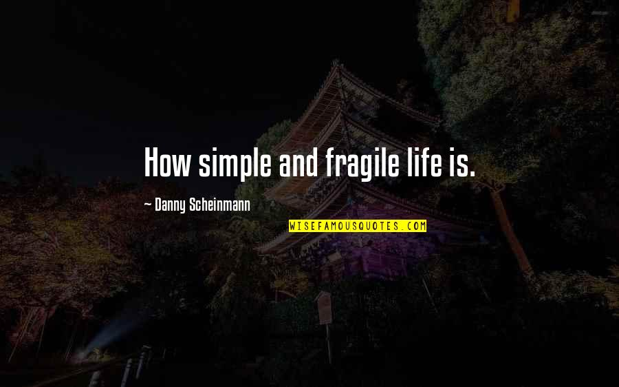Life Is Too Fragile Quotes By Danny Scheinmann: How simple and fragile life is.