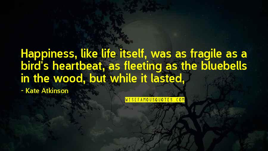 Life Is Too Fragile Quotes By Kate Atkinson: Happiness, like life itself, was as fragile as