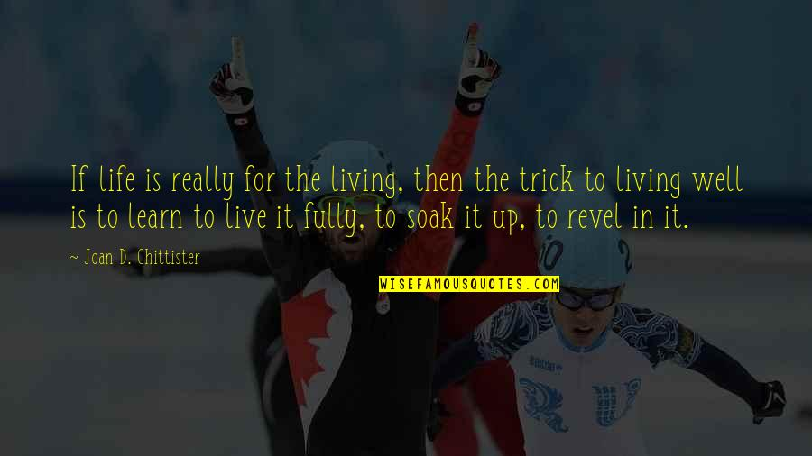 Life Live It Up Quotes By Joan D. Chittister: If life is really for the living, then