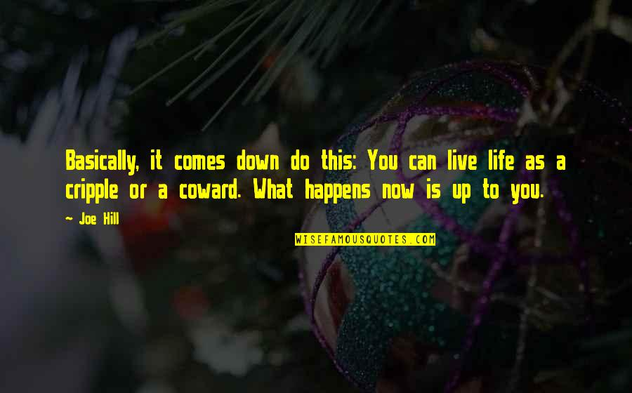 Life Live It Up Quotes By Joe Hill: Basically, it comes down do this: You can