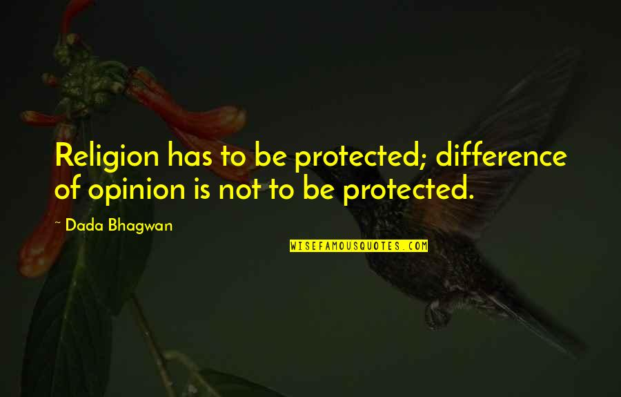 Life Long Learner Quotes By Dada Bhagwan: Religion has to be protected; difference of opinion