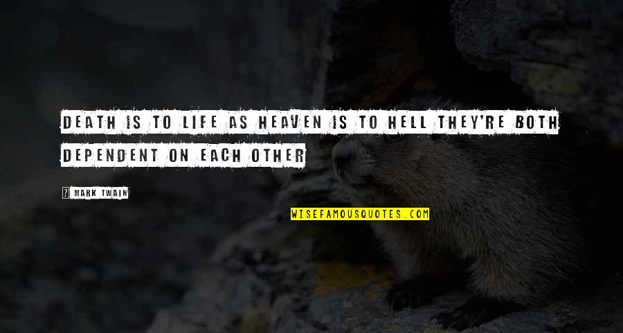 Life Mark Twain Quotes By Mark Twain: Death is to life as heaven is to