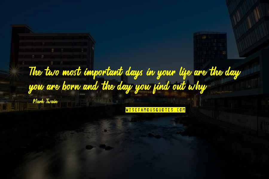 Life Mark Twain Quotes By Mark Twain: The two most important days in your life