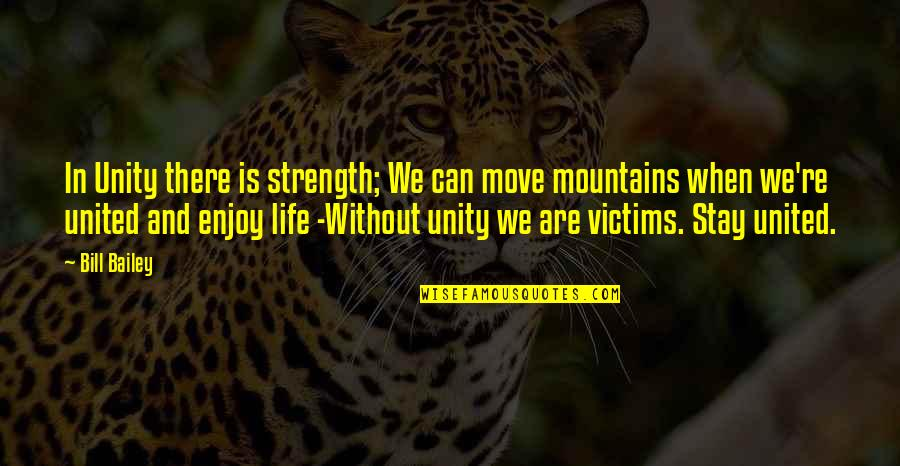 Life Mountains Quotes By Bill Bailey: In Unity there is strength; We can move