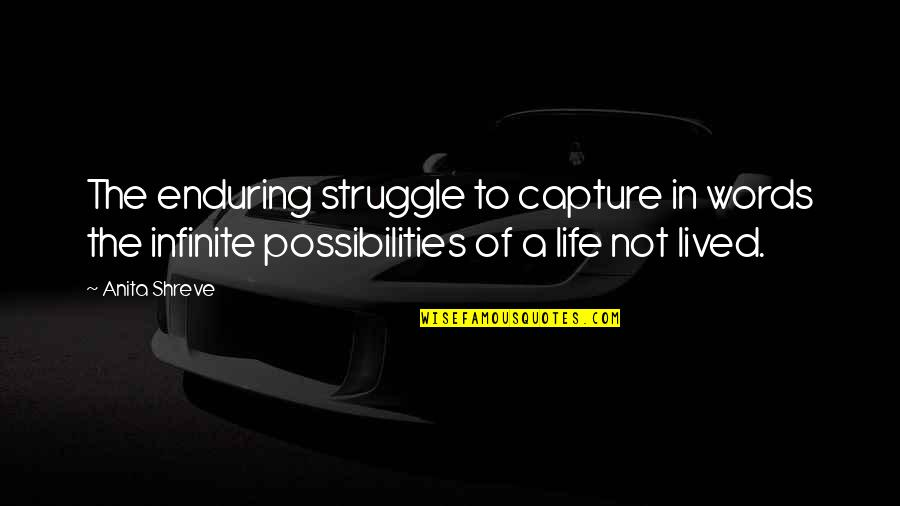 Life Of Struggle Quotes By Anita Shreve: The enduring struggle to capture in words the