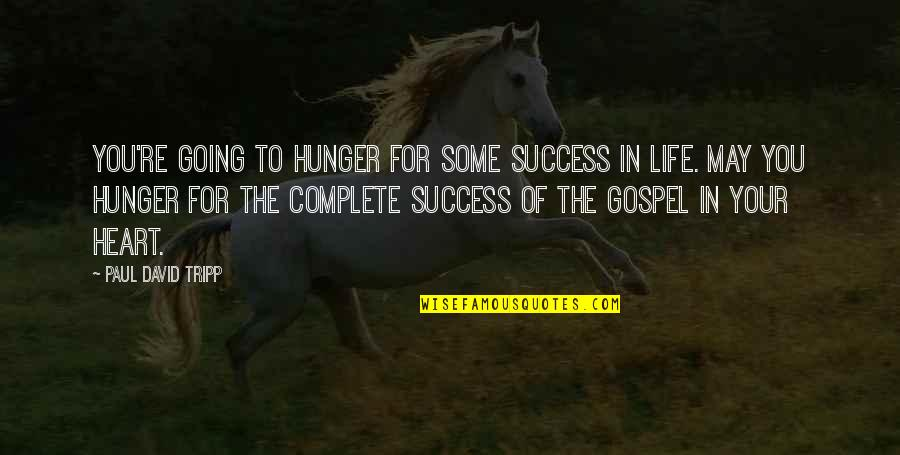 Life Of Success Quotes By Paul David Tripp: You're going to hunger for some success in