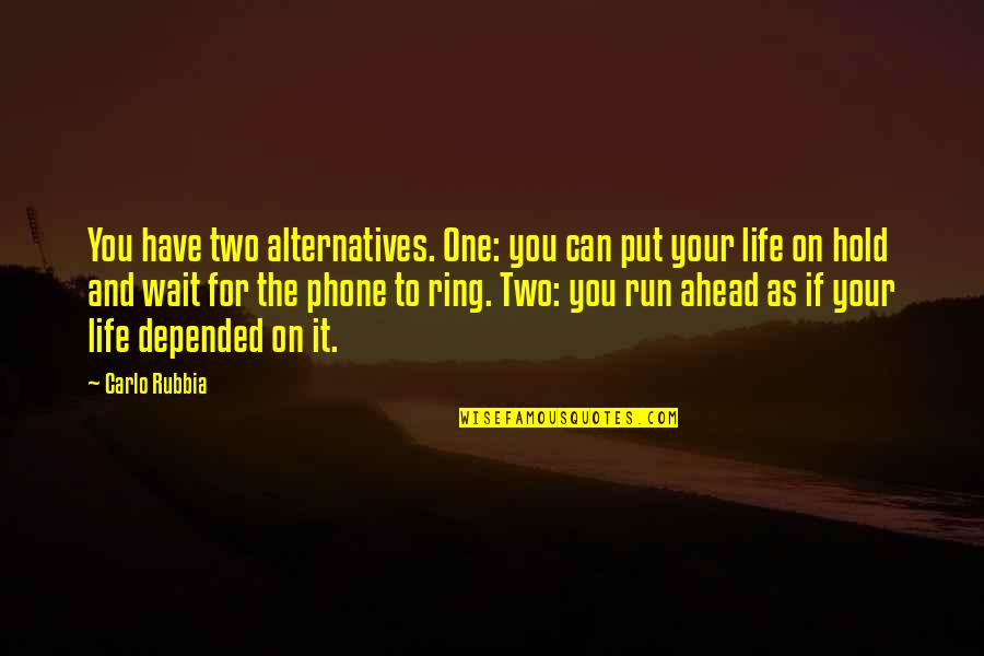 Life On Hold Quotes By Carlo Rubbia: You have two alternatives. One: you can put