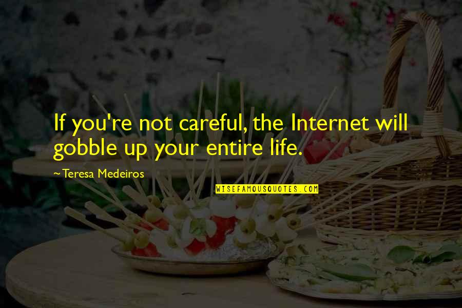 Life Re-evaluation Quotes By Teresa Medeiros: If you're not careful, the Internet will gobble