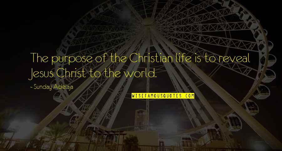 Life Reveal Quotes By Sunday Adelaja: The purpose of the Christian life is to