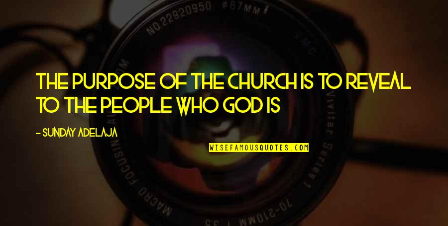 Life Reveal Quotes By Sunday Adelaja: The purpose of the church is to reveal