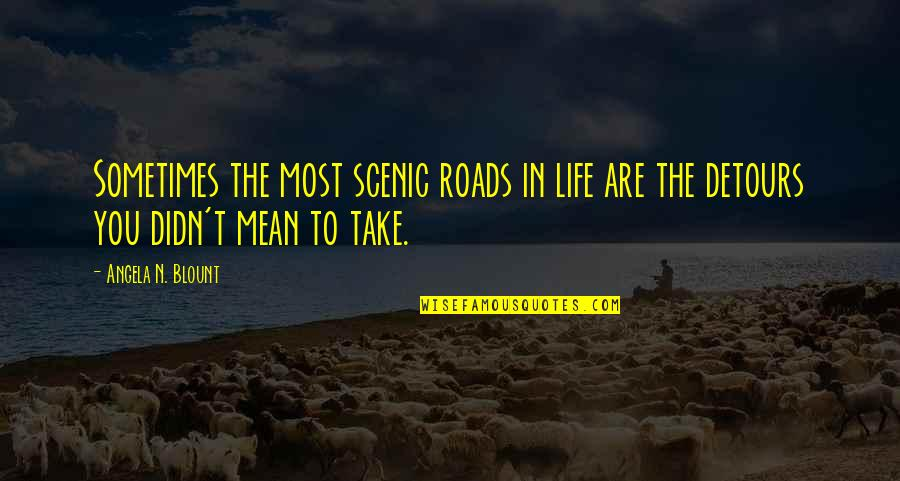 Life Road Trip Quotes By Angela N. Blount: Sometimes the most scenic roads in life are