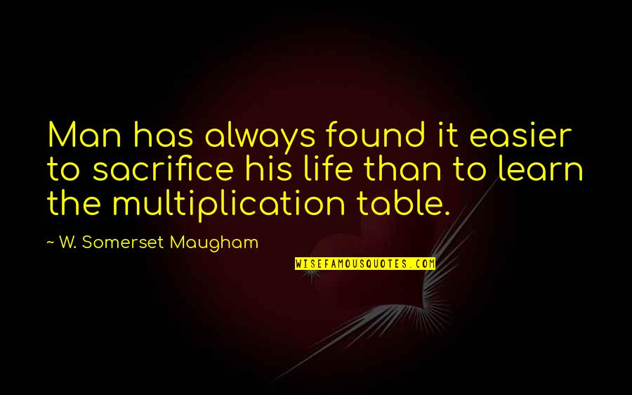 Life Sacrifice Quotes By W. Somerset Maugham: Man has always found it easier to sacrifice