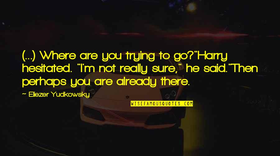 """Life Searching Quotes By Eliezer Yudkowsky: (...) Where are you trying to go?""""Harry hesitated."""