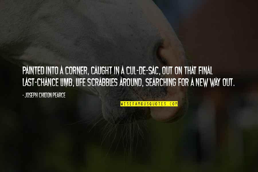 Life Searching Quotes By Joseph Chilton Pearce: Painted into a corner, caught in a cul-de-sac,