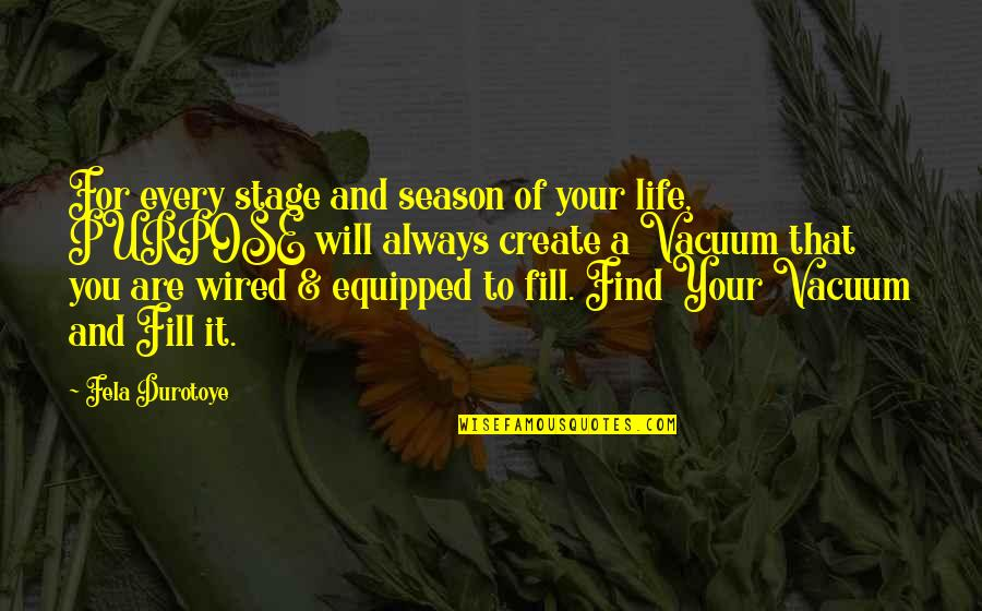 Life Stage Quotes By Fela Durotoye: For every stage and season of your life,