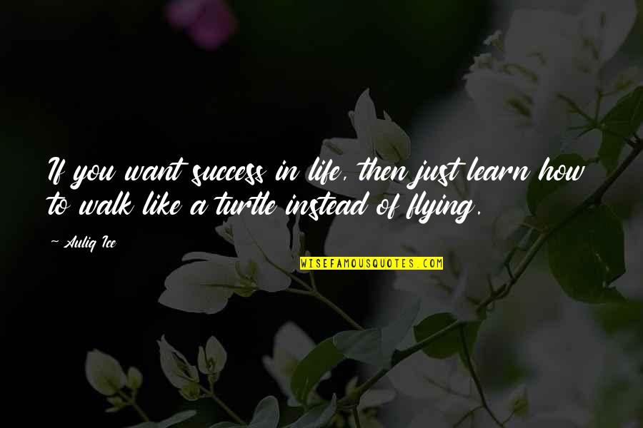 Life Success Quotes By Auliq Ice: If you want success in life, then just