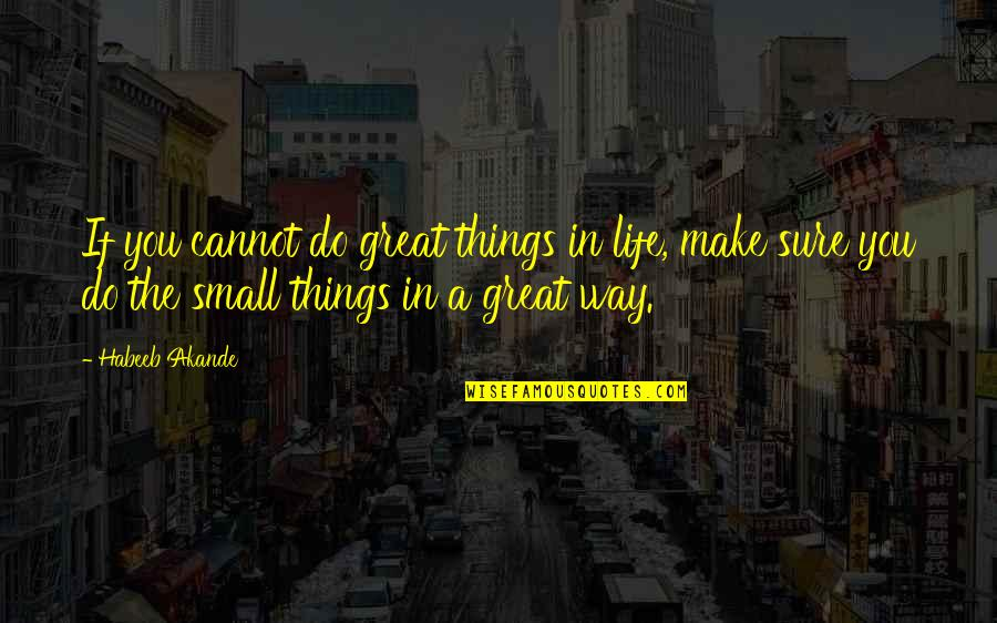 Life Success Quotes By Habeeb Akande: If you cannot do great things in life,