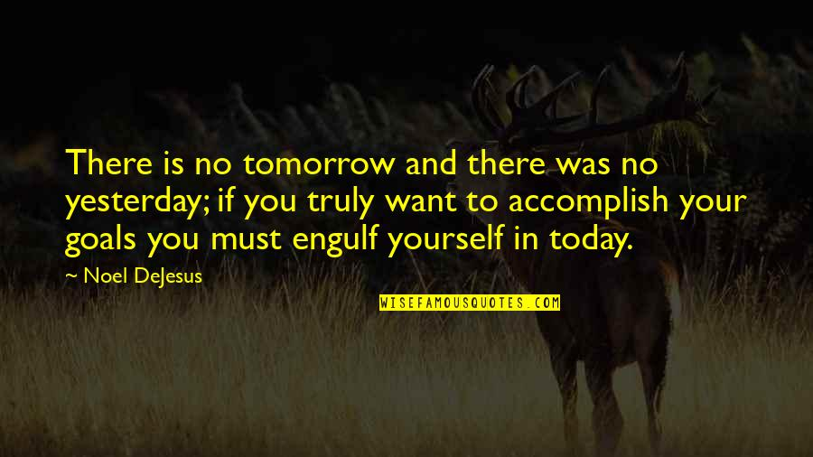 Life Success Quotes By Noel DeJesus: There is no tomorrow and there was no