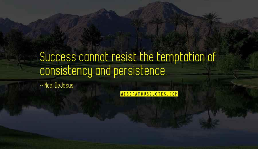 Life Success Quotes By Noel DeJesus: Success cannot resist the temptation of consistency and