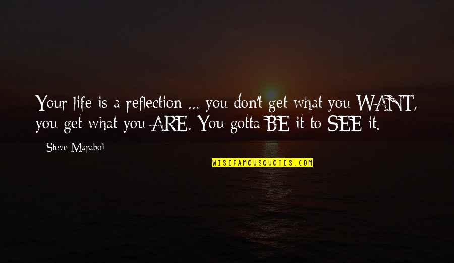 Life Success Quotes By Steve Maraboli: Your life is a reflection ... you don't