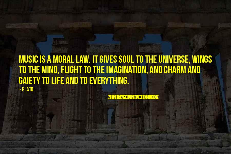 Life The Universe And Everything Quotes By Plato: Music is a moral law. It gives soul