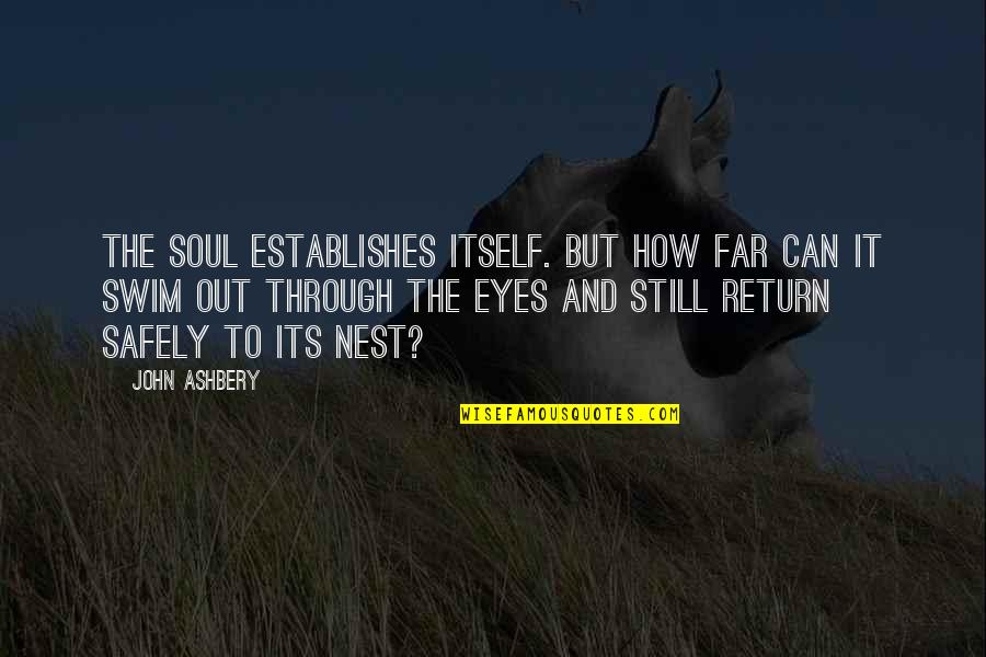Life Through My Eyes Quotes By John Ashbery: The soul establishes itself. But how far can